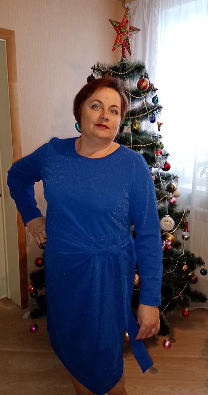 Рождество наФФ сElenka-Elenka. Платье васильковое сблеском