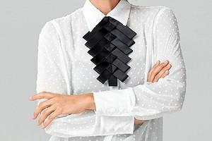 В стиле гарсон: атласный пластрон своими руками