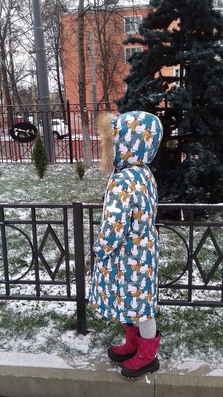 Стеганное пальто длядочки