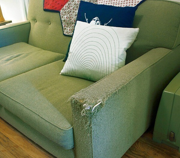 Идея: чехлы дляподлокотников кресла или дивана