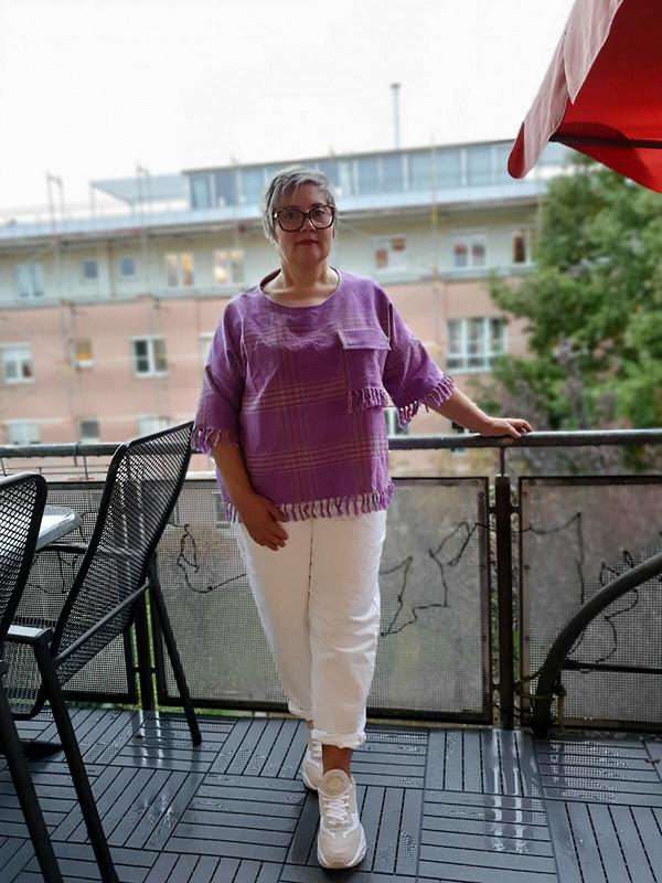 Блузка сбахромой