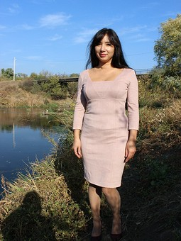 Работа с названием Мои осенние замшевые платья по выкройкам Бурды