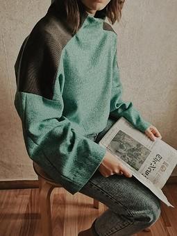 Работа с названием Уютный теплый пуловер