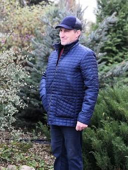 Работа с названием Куртка мужская из стежки