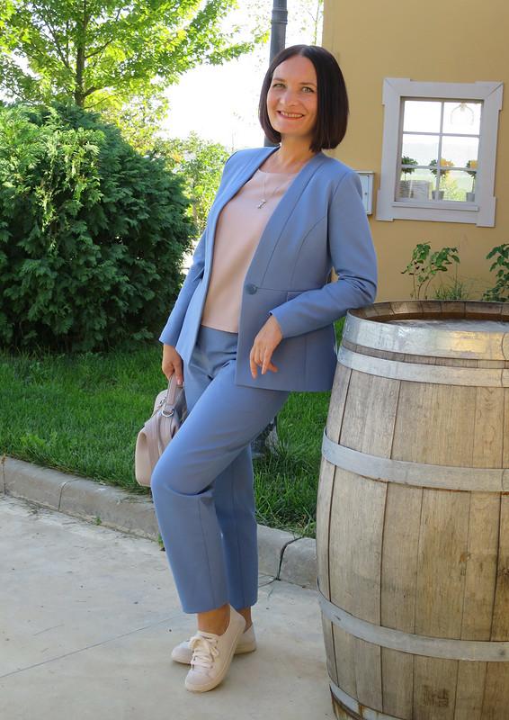 Жакет сбаской + брюки от Татьяна Яковенко