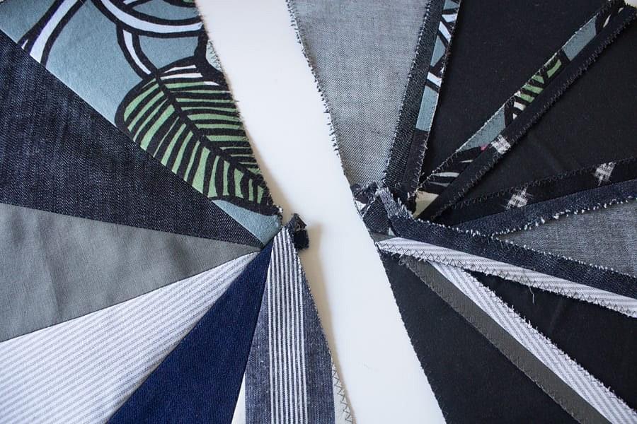 Утилизация остатков ткани: лоскутной пуф вформе цилиндра