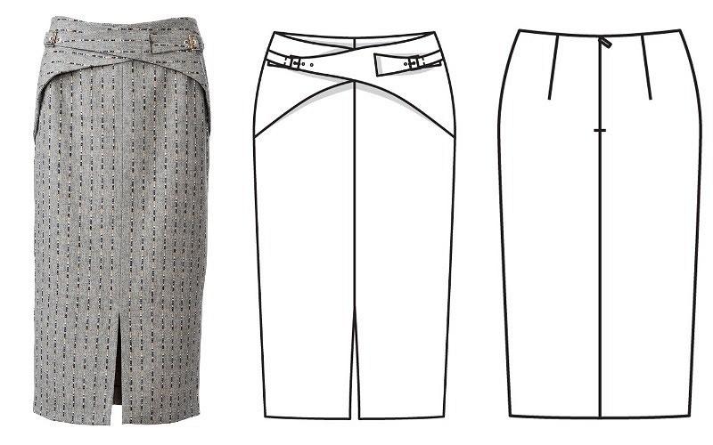 Не так просто, как кажется: 20 выкроек прямых юбок сизюминкой