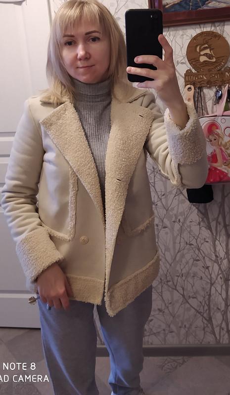 Куртка снамеком надублёнку