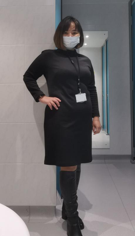 Трикотажное платье дляофиса