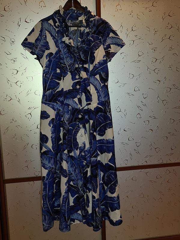 Платье «Синие листья банана»