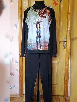 Работа с названием Спортшик для себя: пуловер и брюки
