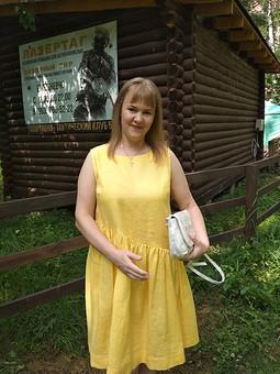 Работа с названием Льняное платье!
