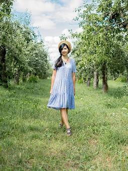 Работа с названием Деревенское платье