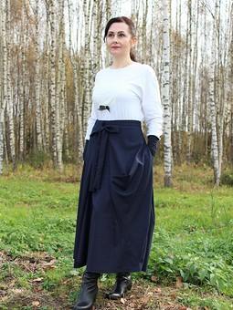 Работа с названием Асимметричная юбка с бантом