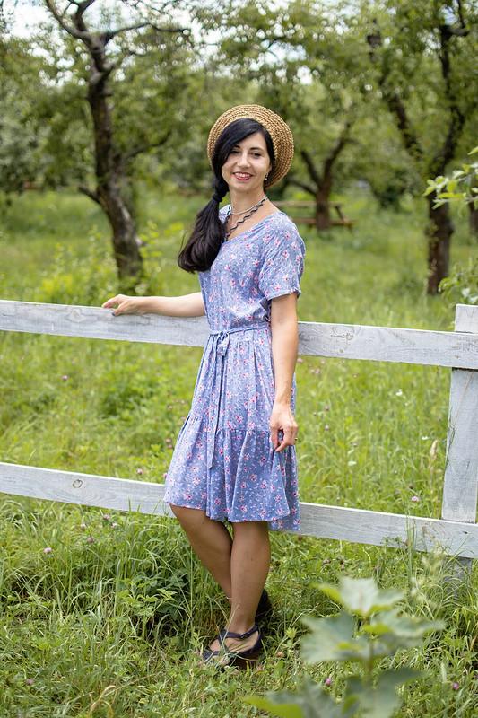 Деревенское платье