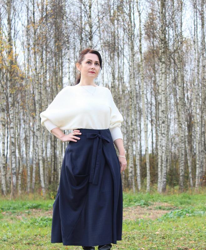 Асимметричная юбка сбантом