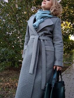 Работа с названием Пальто по выкройке жакета
