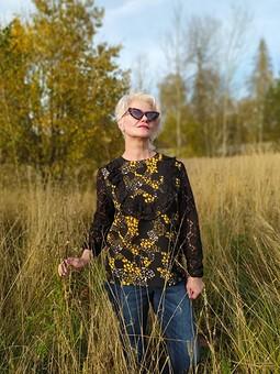 Работа с названием Осенняя блузка