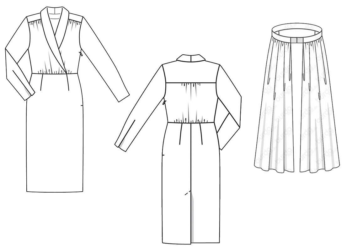 Выкройка месяца: восхитительное ретро-платье со съемной юбкой