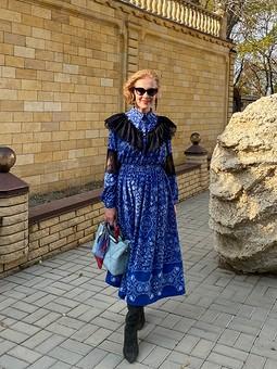 Работа с названием Октябрьское платье или Не Fendi, но похоже)