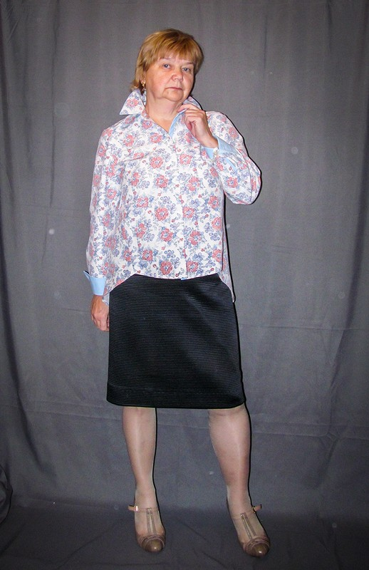 Рубашка со шлейфом...
