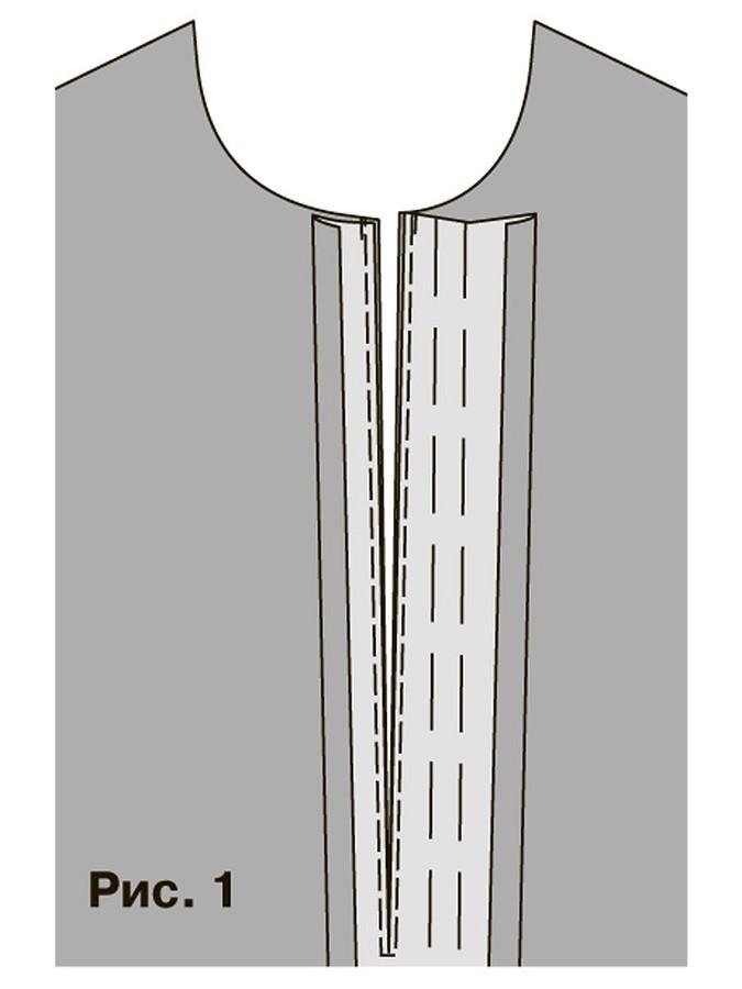 Обработка застёжки поло вдетских изделиях