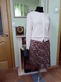 Работа с названием Гипюровая юбка
