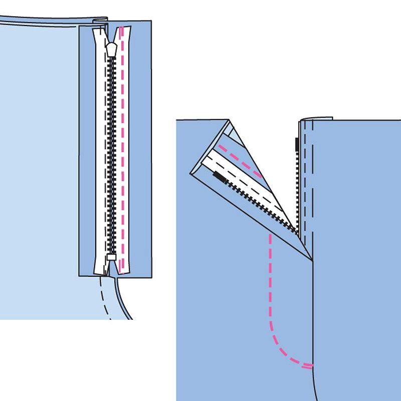 Школа шитья: обработка классической застёжки намолнию вженских брюках