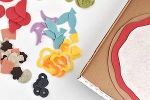 Идея: детский конструктор «пицца» из фетра