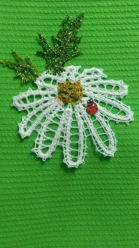 Кружевной сувенир «Ромашка»