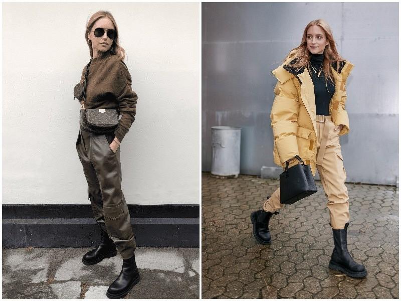 С чем носить сhunky boots: 10 образов ссамой модной обувью сезона