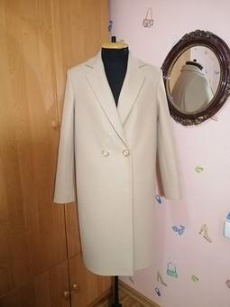 Работа с названием Двубортное пальто оверсайз для дочери