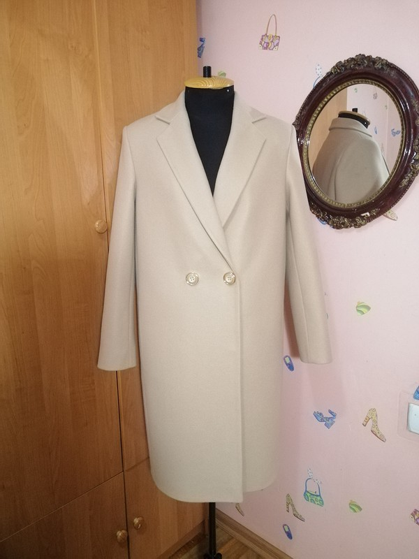 Двубортное пальто оверсайз длядочери