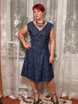 Работа с названием Платье из денима