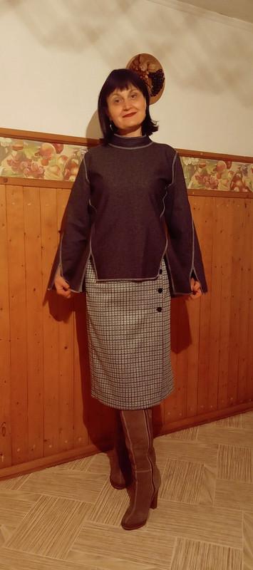 Пуловер наизнанку