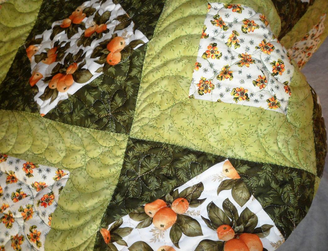 Лоскутное стеганое одеяло «Греческие каникулы»
