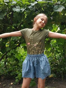 Работа с названием Суперклассная, легкая выкройка юбки-шорт