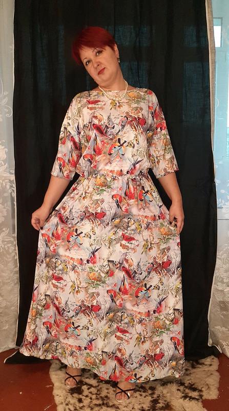 Платье «Птички-синички или зимняя сказка»