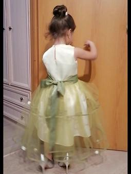 Работа с названием Платье из сатина