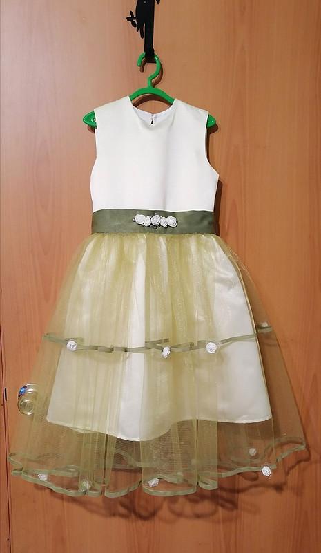 Платье изсатина