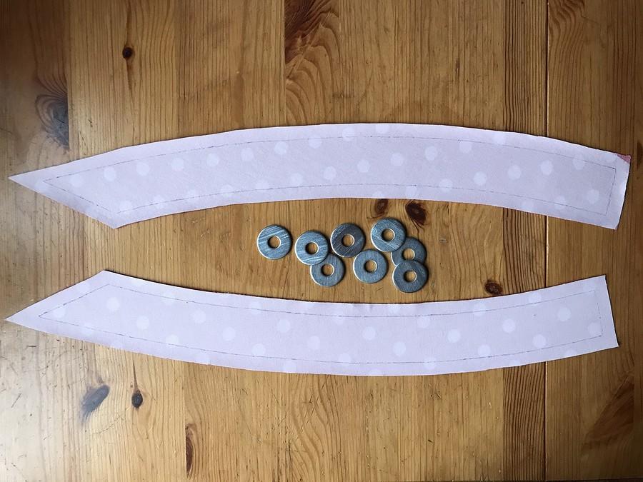 Лайфхак: металлические шайбы вместо портновских булавок