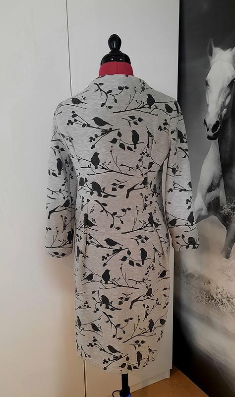 Зимнее платье сначёсом