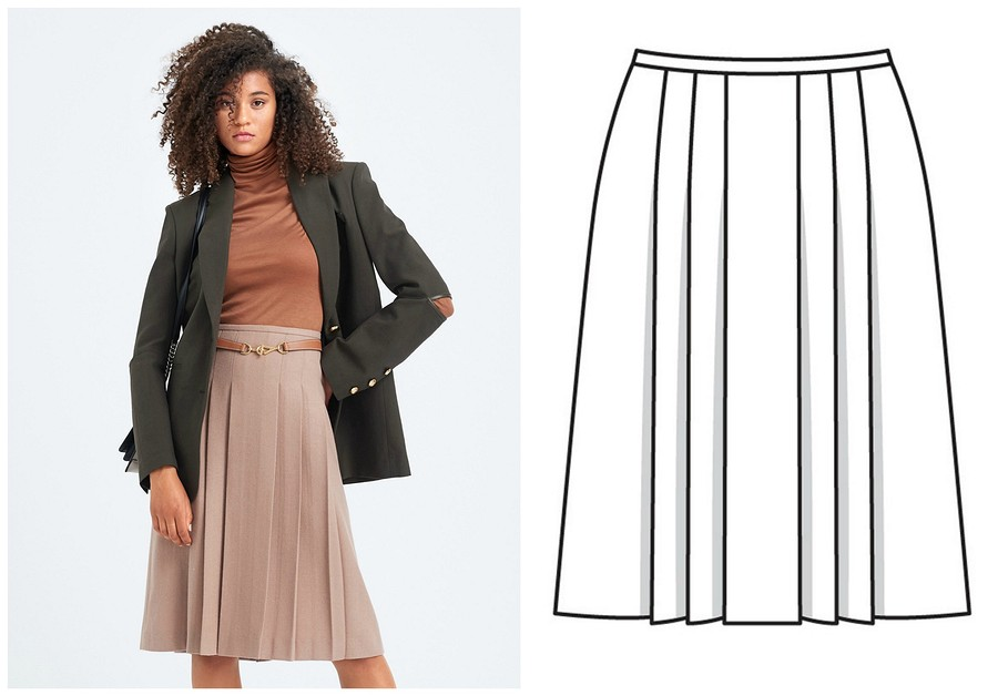 Выкройка месяца: юбка встиле «колледж» прямиком из70-х