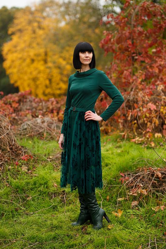 Платье. Втандеме сзеленым