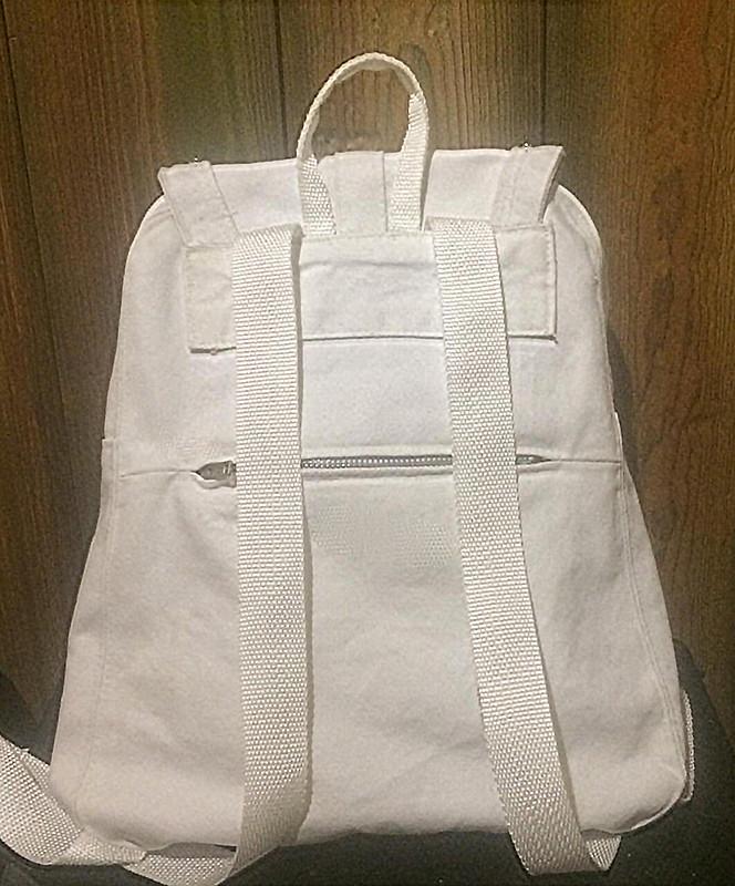 Городской белый рюкзак