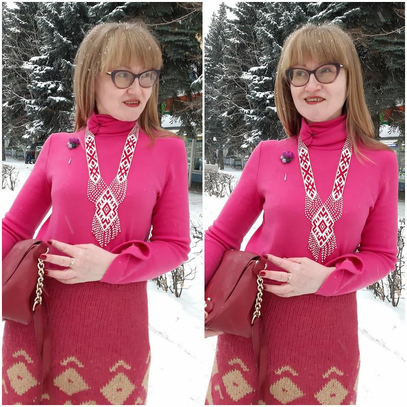 Комплект вэтностиле: пуловер июбка