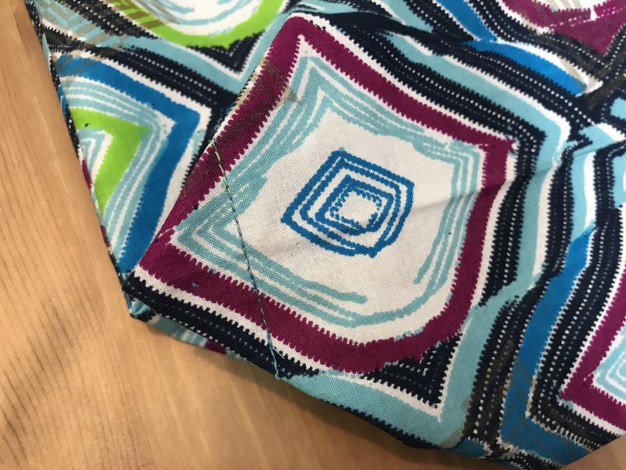 Подарки своими руками: яркий истильный экошопер сфранцузскими швами