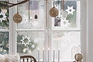 Новогодний декор: как украсить окно — 10 необычных идей с инструкциями