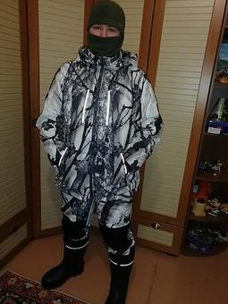 Работа с названием К зимней рыбалке готов: куртка и брюки