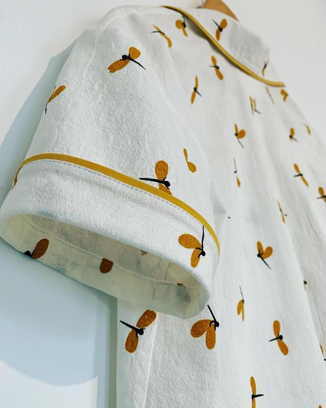 Пижама со стрекозами: рубашка